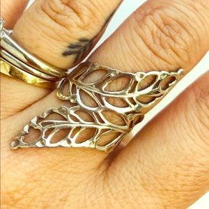 Jewelry - Sterling leaf ring